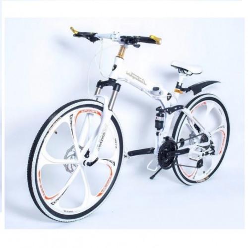 Велосипед на Литых дисках Lambo складной белый 26 дюйм