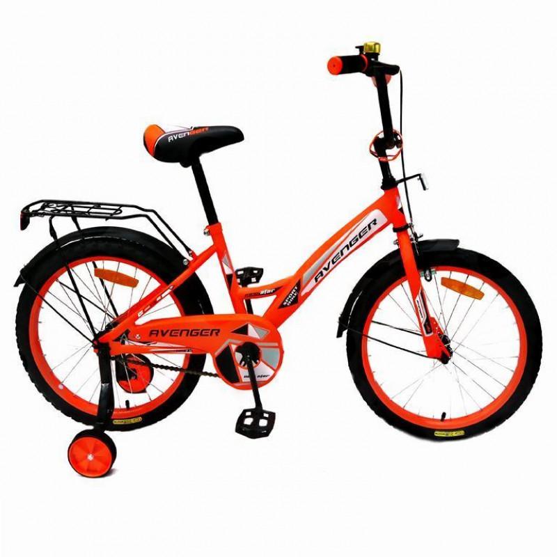 Велосипед 14  AVENGER NEW STAR, оранжевый/чёрный АКЦИЯ!!!