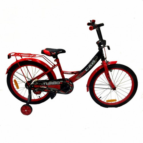 Велосипед 18 OSCAR TURBO Black-Red (черный/красный) 2021   АКЦИЯ!!!
