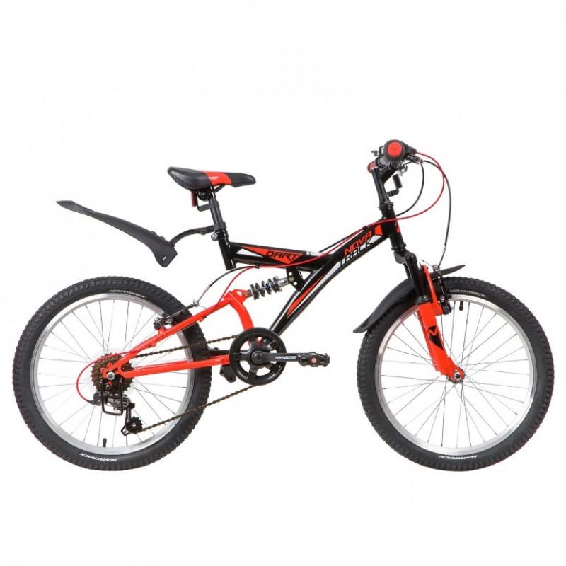 Велосипед 20 Novatrack SS6V.DART.BK20  6ск. черный