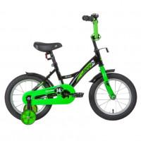 Велосипед 14 Novatrack Strike.BKG20 черный-зеленый АКЦИЯ!!!
