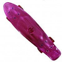 Скейтборд  ТТ Metallic 22 pink 1/4