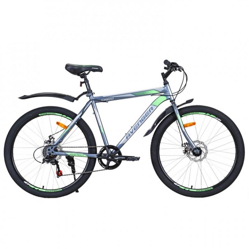 Велосипед 26 Avenger C260D-GR-19(21) серый  19