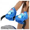 Рукавички для санок РС2 Совята голубой  РС2