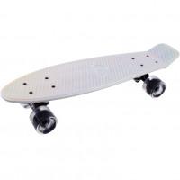 Скейтборд  ТТ Metallic 22 white 1/4