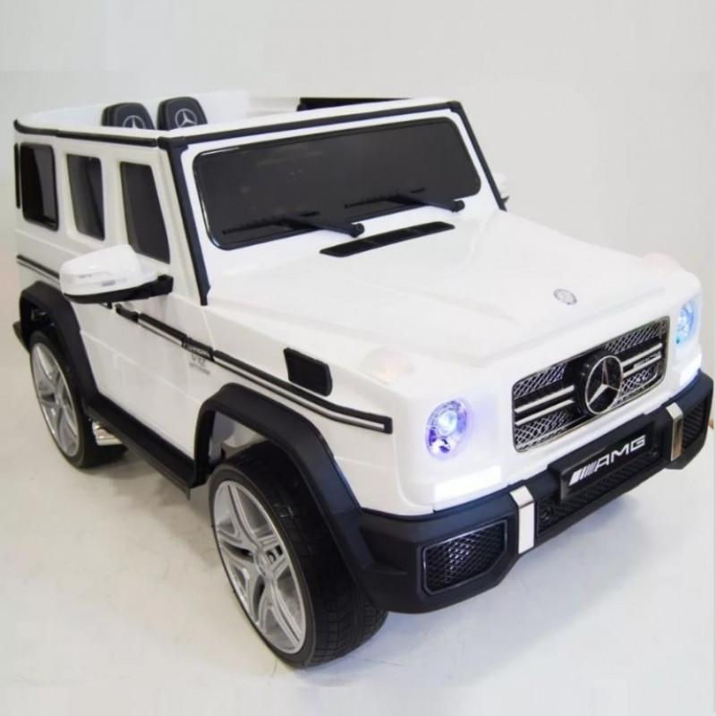 Детский электромобиль Mercedes-Benz G65AMG 42594 белый глянец 12в р-у кож 131*70*