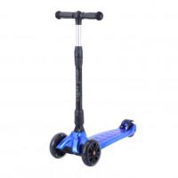 Детский самокат TT TIGER Plus 2021 (синий металлик) со светящимися колесами 1/4 (Р)