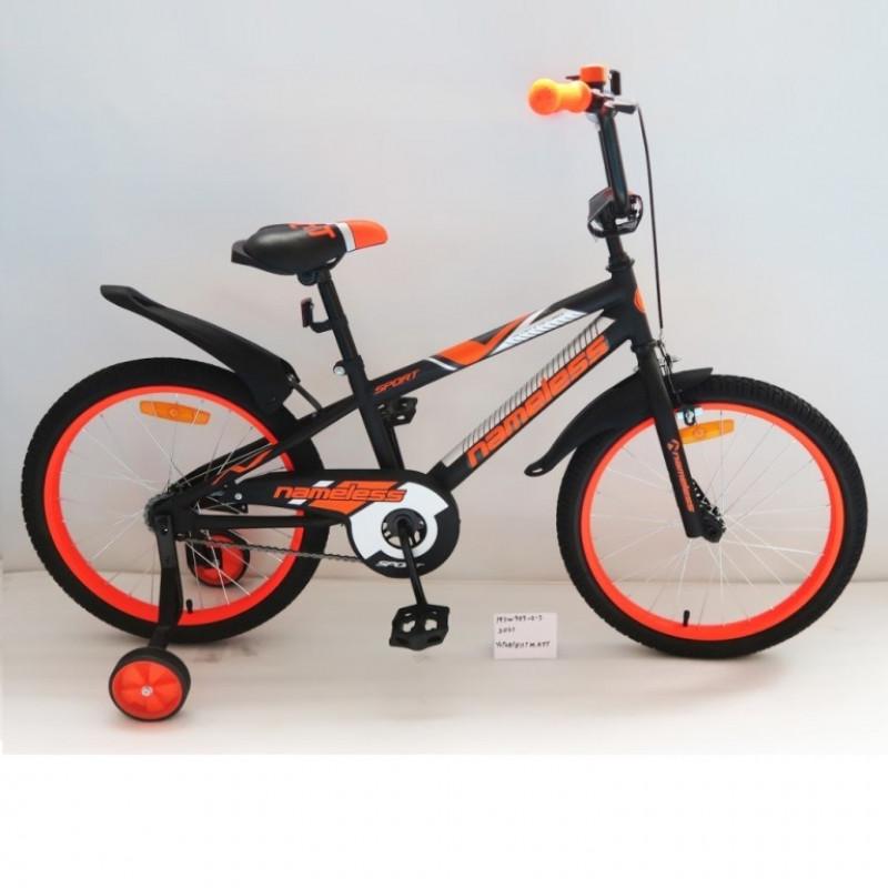 Велосипед 18 Nameless Sport, чёрный/оранжевый