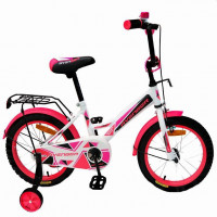 Велосипед 14  AVENGER NEW STAR, белый/розовый АКЦИЯ!!!
