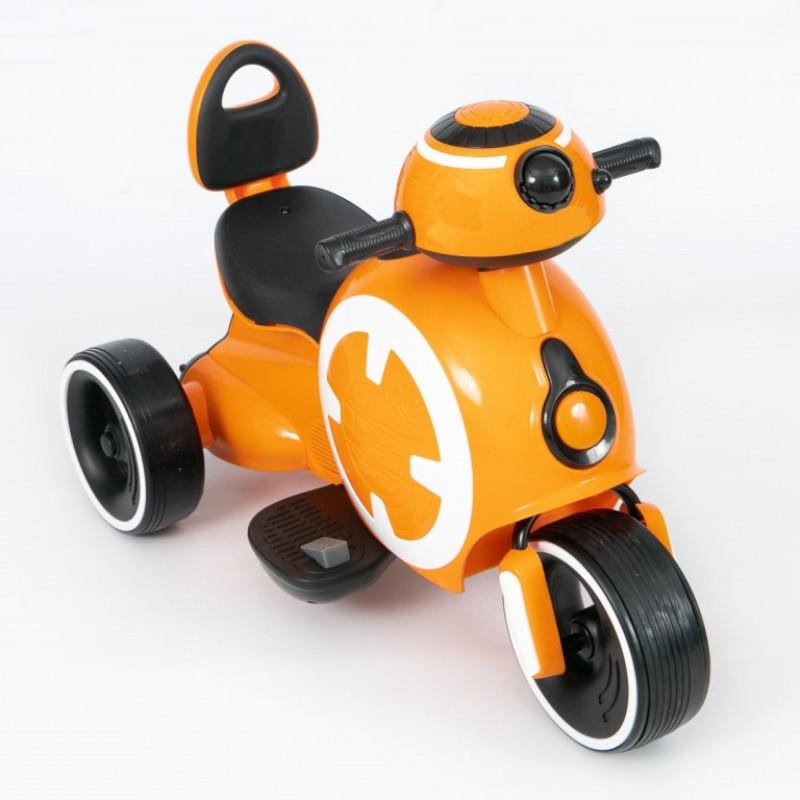 Электромотоцикл детский 45559 (Р) оранжевый