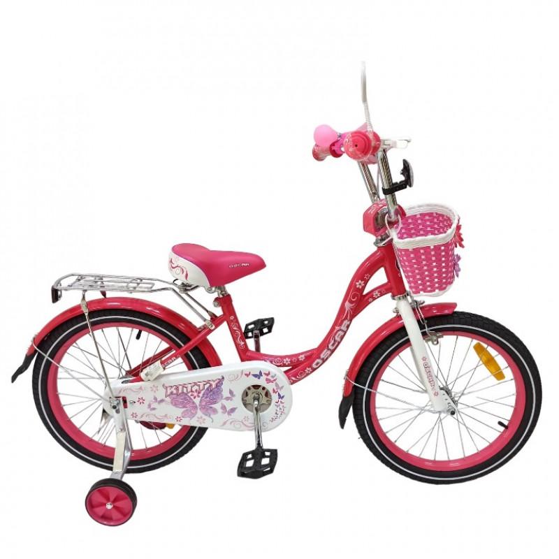 Велосипед 18 OSCAR KITTY розовый/белый