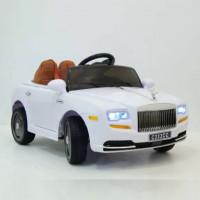 Электромобиль детский Rolls-Royce 39371 белый 12в р-у откр.дв