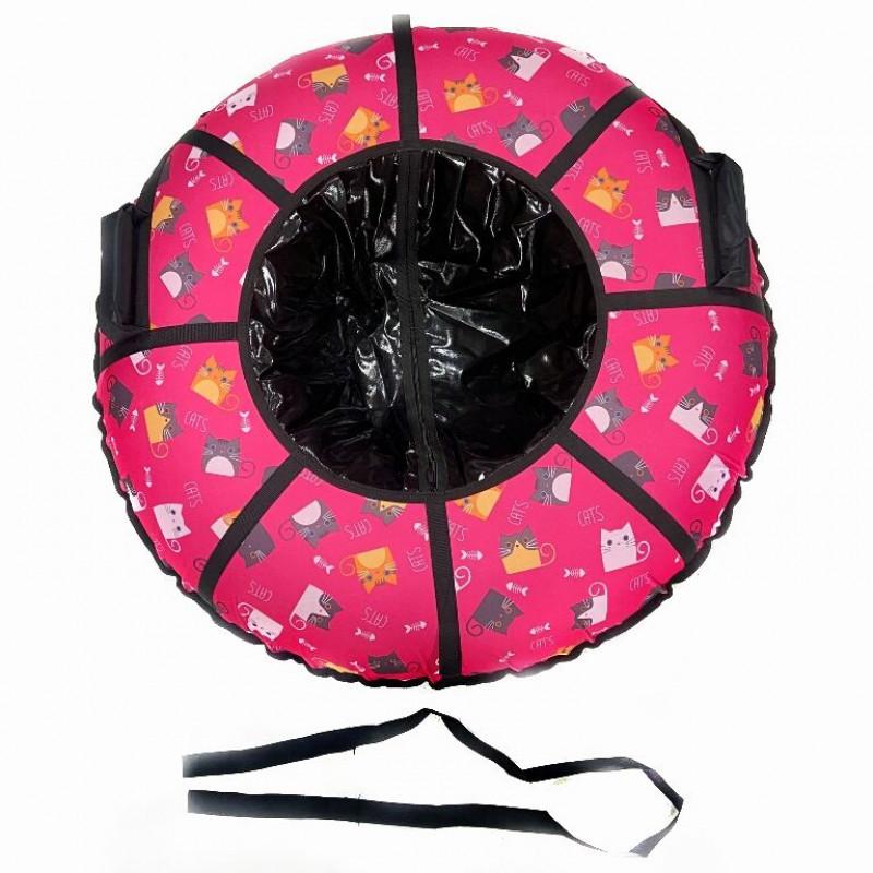 Тюбинг  CH-120-ГЛАМУР-Кошки розовый в чёрном