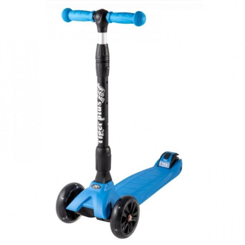 Детский самокат TT TIGER Plus 2020 (синий) со светящимися колесами 1/4 (Р)