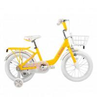 Велосипед 16  Tech Team Milena желтый (алюминий)