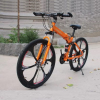 Велосипед 26 на литых дисках Lamborghini складной оранжевый(P)