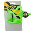 Велофляга X95402 STG с флягодержателем детская белый-зелёный