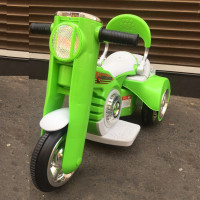 Электромотоцикл детский 40198 зеленый 6в