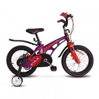 Велосипед 14  Stels  Galaxy V010 фиолетовый/красный 2021