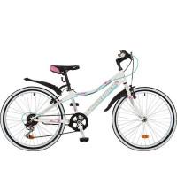 Велосипед 24 Novatrack SH6SV.Alice.12WT21   6ск белый