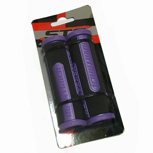 Грипсы Х76786 Novatrack, 110мм, черно-фиолетовый (РТ266С)