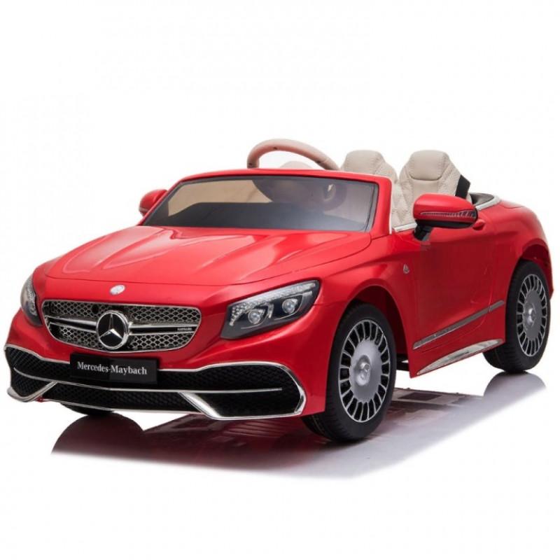 Электромобиль детский Mercedes-Maybach S650 Cabriolet ZB188,  50521 (Р) полный привод, красный, глянец