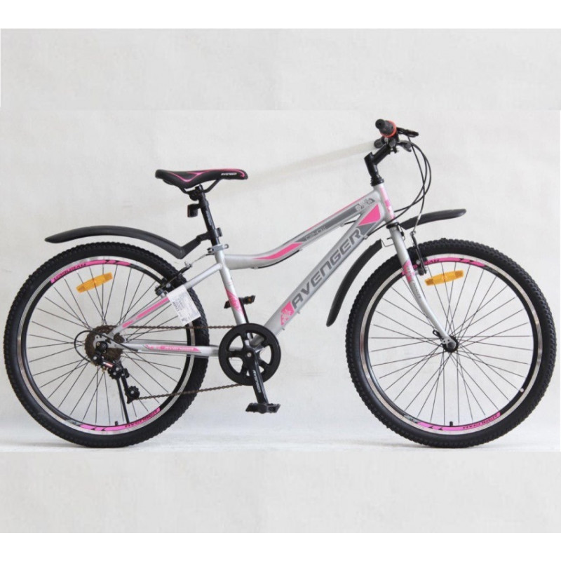 Велосипед 24 Nameless S4000W, розовый/серый