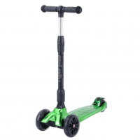 Детский самокат Tech Team TIGER Plus 2021 (зеленый металлик) со светящимися колесами   АКЦИЯ!!!