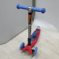 Самокат Scooter Maxi Print складной Паук синий TJ-701PF  1/6
