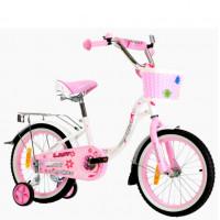Велосипед 12 Nameless Lady, белый/розовый