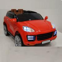 Электромобиль детский Porsche  Е008КХ красный 12в р-у кож