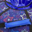 Тюбинг  CH-105-ГЛАМУР-Звезда фиолетовый в синем 2022 ,с мягкими ручками,с замком,со светоотражателями,цена с камерой д=105см new 1/10