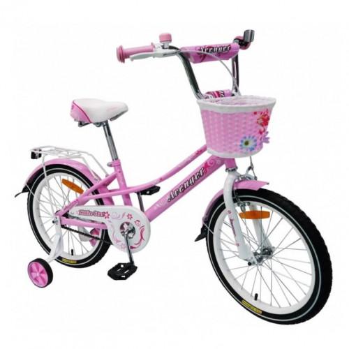 Велосипед 16  AVENGER LITTLE STAR, розовый/белый