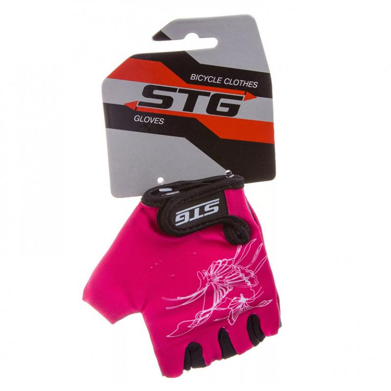 Перчатки X61872-C летние быстросьёмные с защитной прокладкой, на лип. размер S, крас. черно-роз.