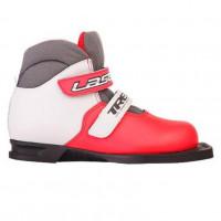 Ботинки лыжные  31р. 75мм TREK Laser ИК (красный, лого черный)  на липучках