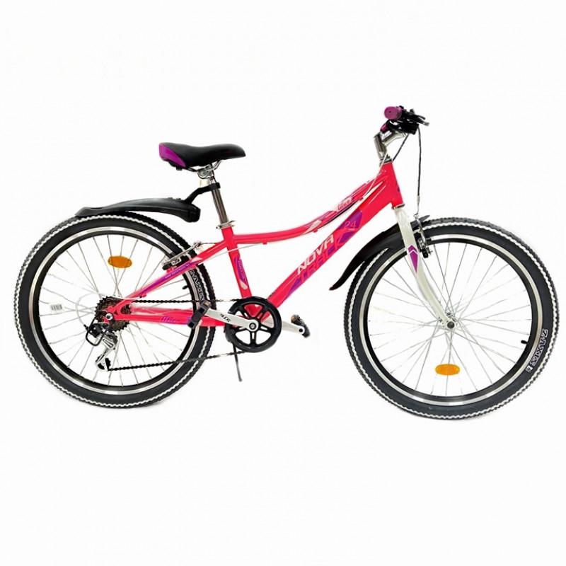 Велосипед 24 Novatrack SH6SV.Alice.10PN21  6-ск розовый