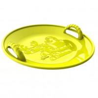 Ледянка  125/4  кругл. 58см  пластмас. жёлтая