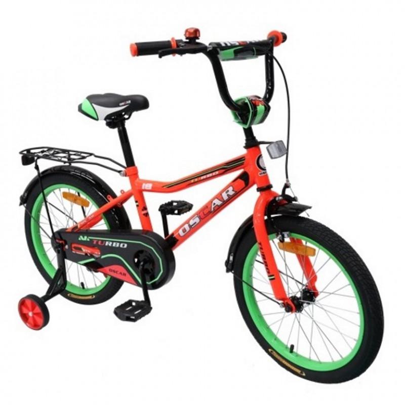Велосипед 18 OSCAR TURBO красный/зелёный   АКЦИЯ!!!