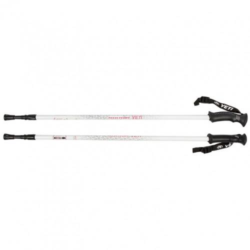 Палки  Yeti White, треккинговые 115-135см 2-х секционные,диаметр 16/14мм, ручка пластмассовая , al6061, система antishock 1/30