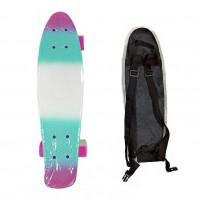 Скейтборд  ТТ Multicolor 22 pink/sea blue 1/4 TLS-401M