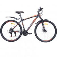 Велосипед 27,5  AVENGER A295D , чёрный/оранжевый неон , 19