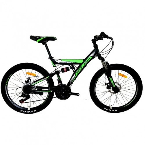 Велосипед 24 Roush 24MD100-3 зелёный матовый  АКЦИЯ!!!
