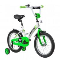 Велосипед 16 Novatrack Strike WTG20 белый-зелёный  АКЦИЯ!!!
