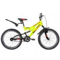 Велосипед 20 Novatrack SHARK салатовый, сталь, 1 скор., Falcon  АКЦИЯ!!!