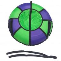 Тюбинг  CH-105-ТО цвет N2 зелёный/фиолетовый ,с мягкими ручками,с замком,с камерой new д=105см