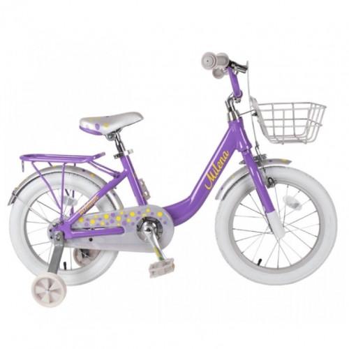 Велосипед 20  Tech Team Milena фиолетовый (алюминий), корзина