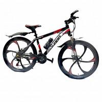 Велосипед  26  Лит. диски Summa-26/17 чёрно-красный