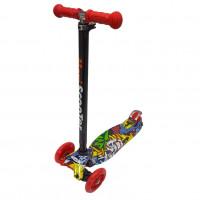 Самокат Scooter Maxi Print TJ-701P Хип хоп жёлтый 1/6