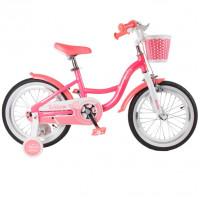 Велосипед 16 TT Merlin розовый (АЛЮМИНИЙ-облегчённая рама)