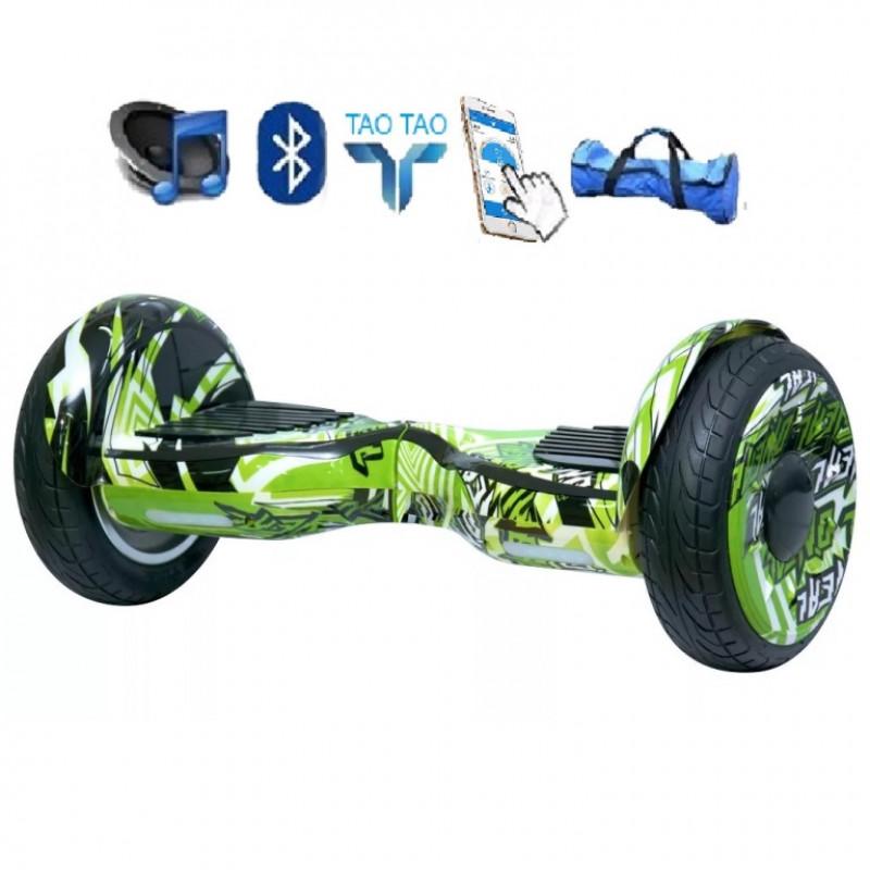 Гироскутер 10,5  Smart Balance SUV Зелёный Графитти Premium PRO + Самобаланс + TaoTao Whell new